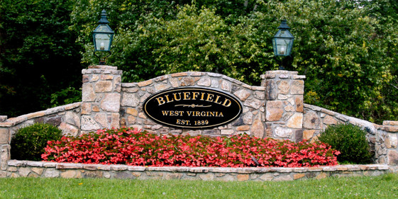 Bluefield Stone Entrances