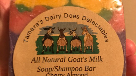 Goat's milk soap/shampoo bar
