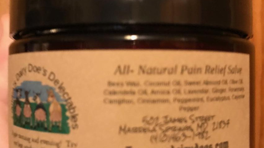 All-natural pain relief salve