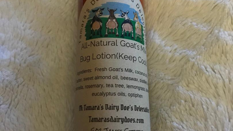 All-natural goat's milk bug lotion