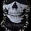 Thumbnail: Half Skull Face Mask Covering Neck Warmer Tube
