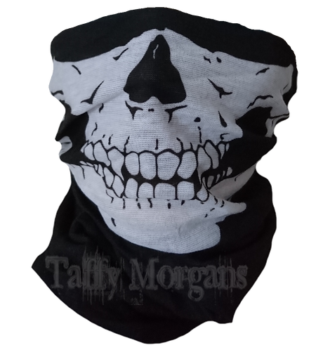 Half Skull Face Mask Covering Neck Warmer Tube