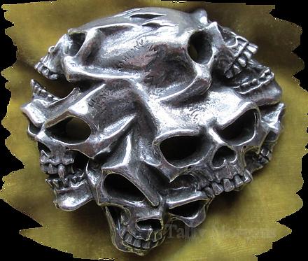 Gestalt Skulls Pewter Buckle