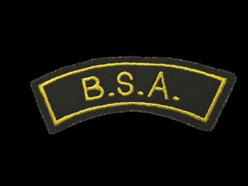 B.S.A. Biker Shoulder Patch