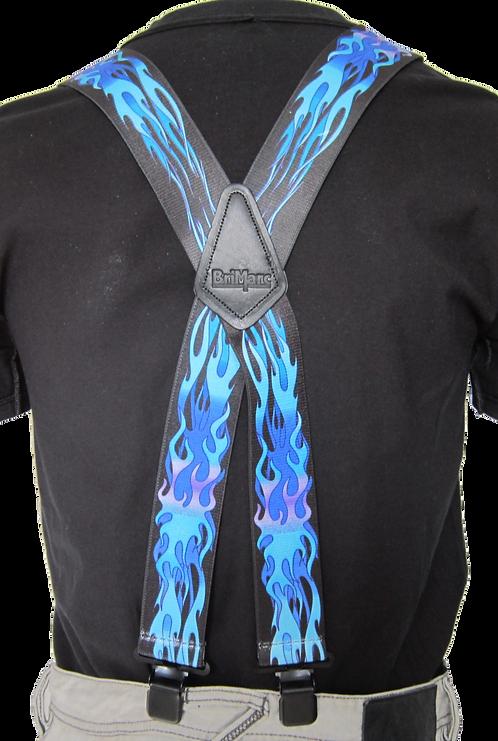 Blue Flames Braces