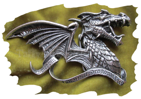 Dracul's Creed Pewter Buckle