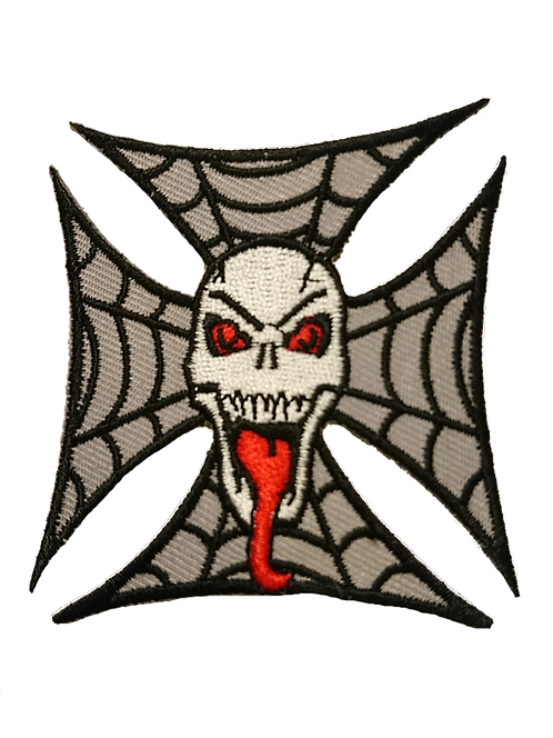 Evil Skull and Web on Cross Patch