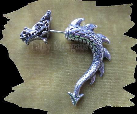 Tor Dragon Faux Ear Stretcher Earring