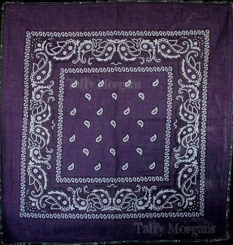 Purple Paisley Bandanna