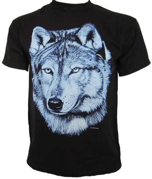 Lone Blue Wolf