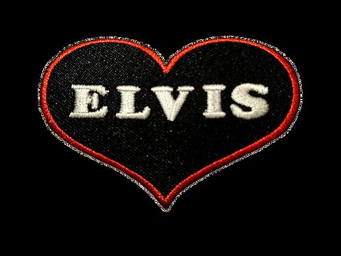Elvis Love Heart Patch