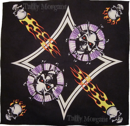 Flaming Skulls Bandanna