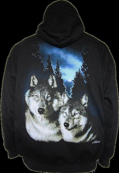 Brothers Wolves Zip Hoody