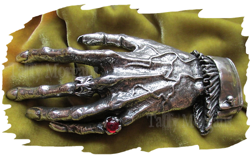 Nosferatu's Hand Pewter Buckle