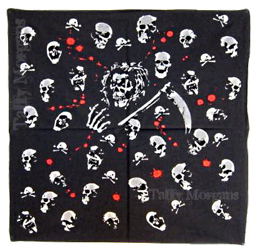 Skulls and Blood Bandanna