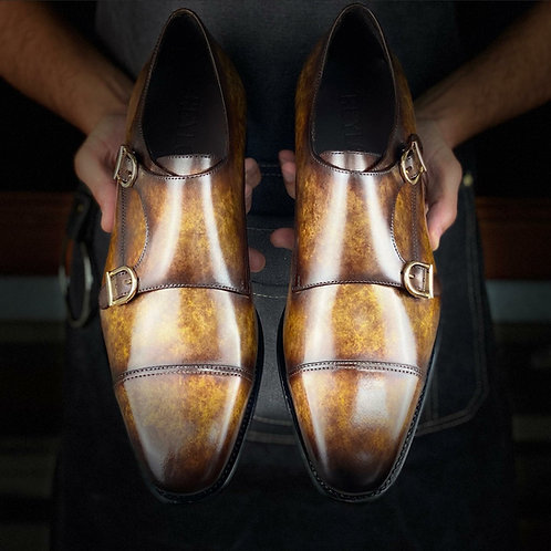 Xavi Row Double Monk Shoes