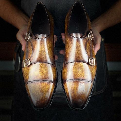 Xavi Row Double Monk Shoes