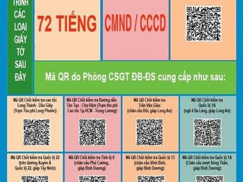 Sử dụng QR- code giúp người dân nhanh chóng qua 12 chốt, trạm kiểm soát Covid-19 tại TP.Hồ Chí Minh