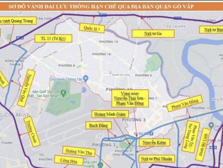 TP.HCM: Lộ trình lưu thông tránh kẹt xe qua quận Gò Vấp
