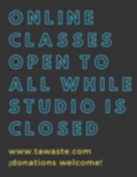 Free online classes while studio is clos