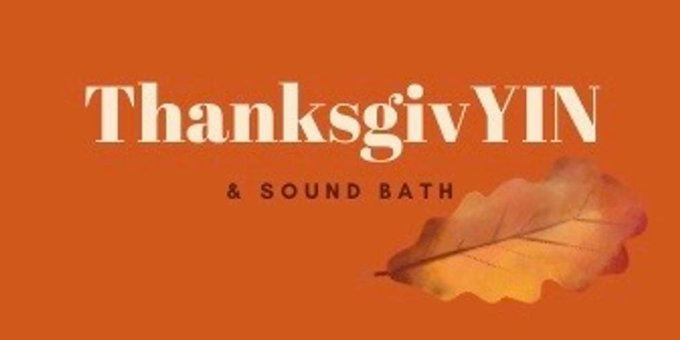 Thanksgiving Yin Yoga & Sound Bath