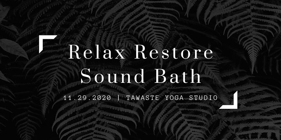 Relax Restore Sound Bath