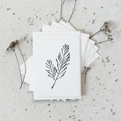 5 Christmas cards | white