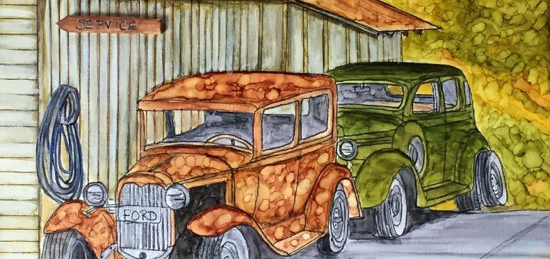 Two Old Cars - Private Collection