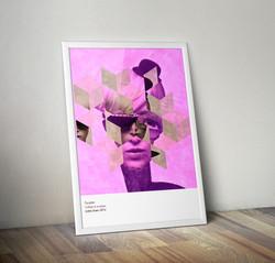 Collage et acrylique