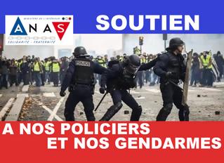 Soutenons nos Policiers et nos Gendarmes : l'ANAS lance une cagnotte de soutien aux forces de l'ordr