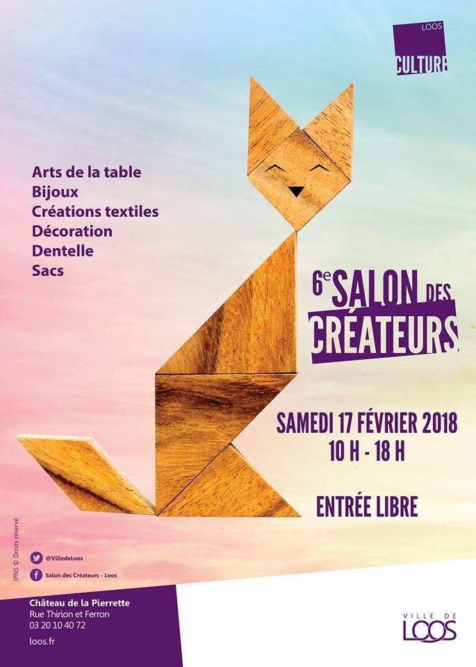 Affiche du 6ème Salon des créateurs de Loos