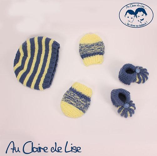 Ensemble tricoté main pour la maternité