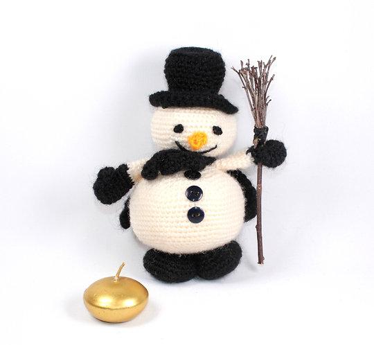 Bonhomme de neige Pompon noir