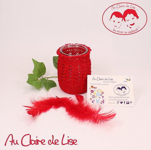 Photophores ou pots à crayons rouge au crochet, à vous de choisir !