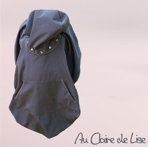 Cape de portage avec capuche amovible et poche - 0/12mois