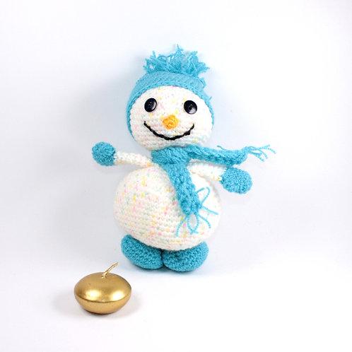 Bonhomme de neige Pompon bleu