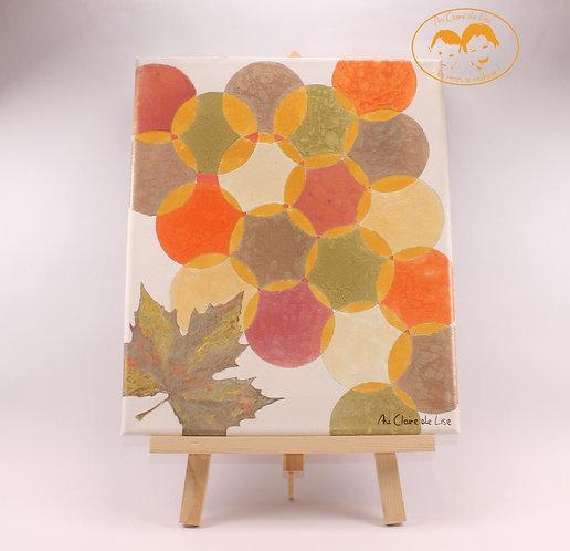 Tableau d'automne peintures à effet prisme
