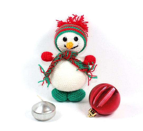 Bonhomme de neige Pompon rouge