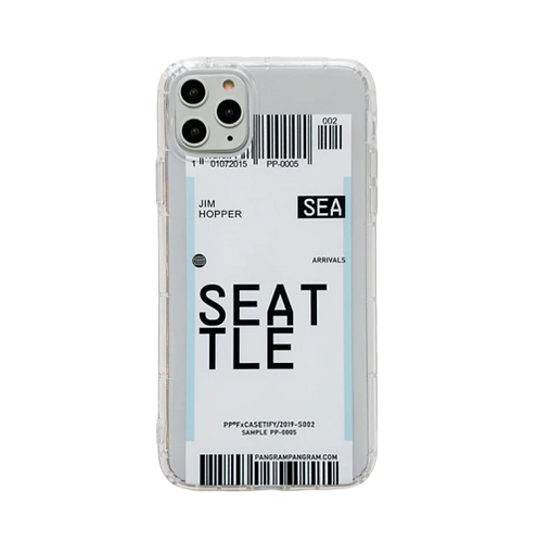 Coque iPhone billet d'avion Seattle