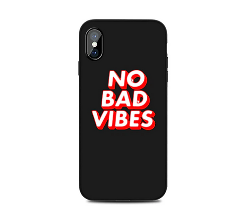 """Coque iPhone """"No Bad Vibes"""""""
