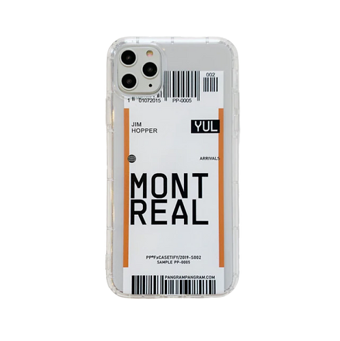Coque iPhone billet d'avion Montreal