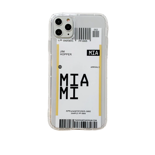 Coque iPhone Miami billet d'avion