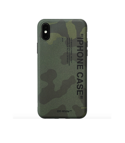 Coque iPhone off White camouflage