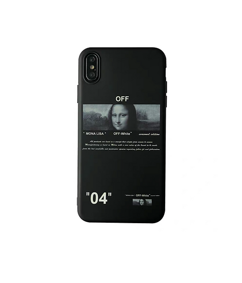 Coque iPhone off white Mona Lisa