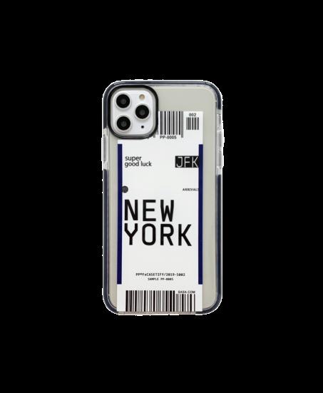 Coque iPhone billet d'avion New York-Toronto-Los Angeles