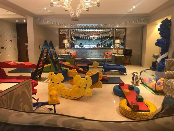 Free play set up at home