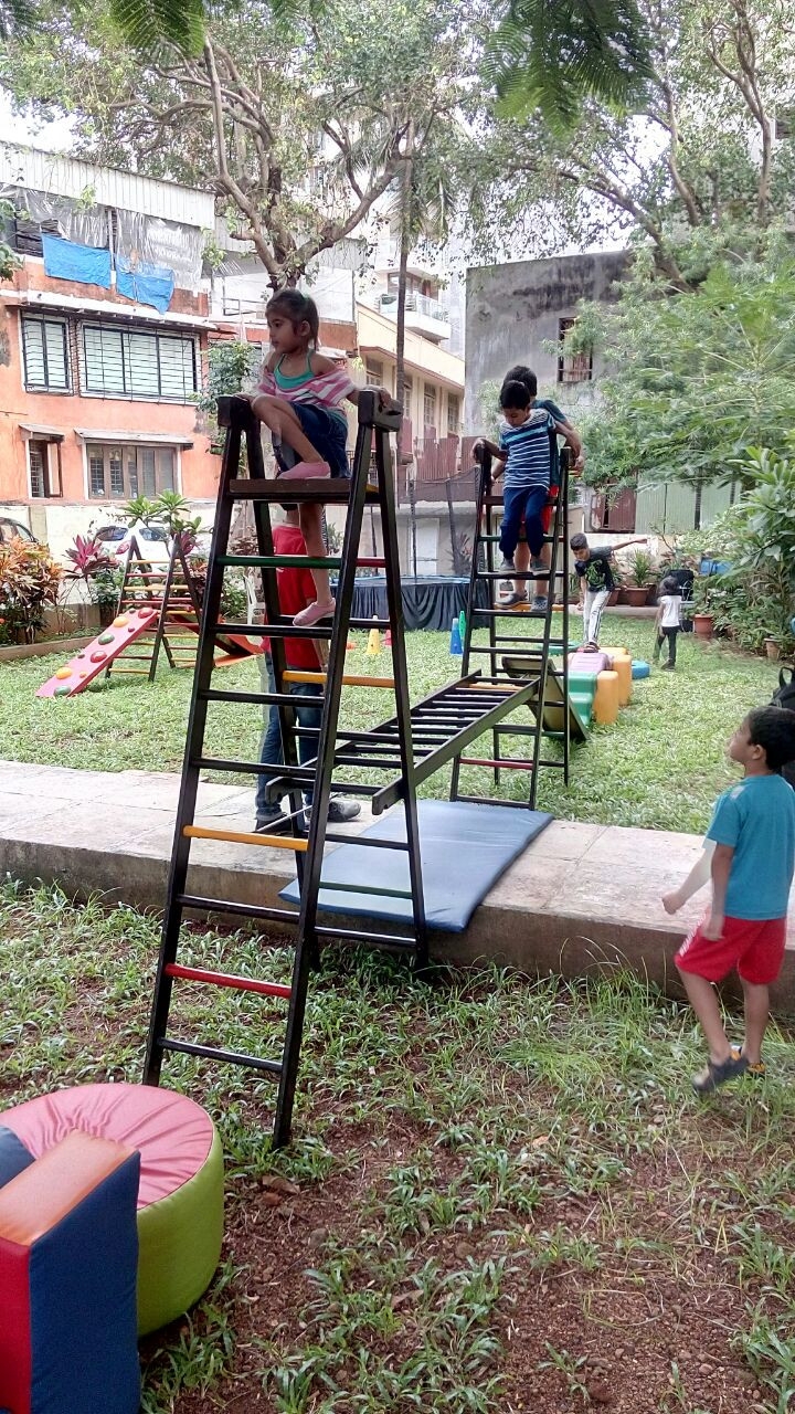 Obstacle course set up