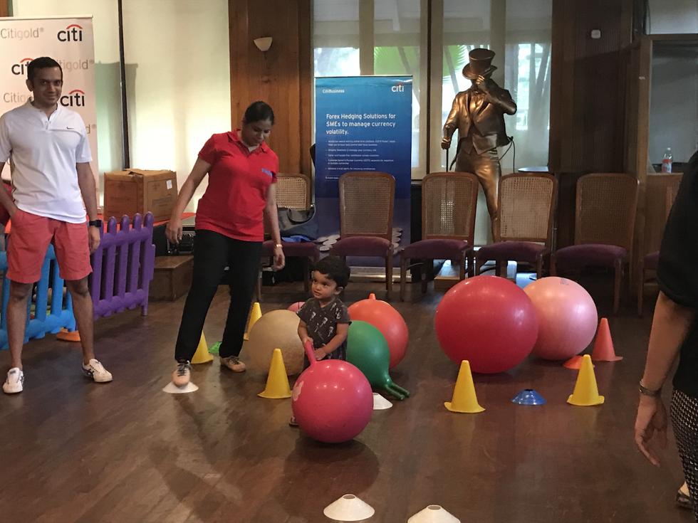 Toddler day at Bombay Gymkhana