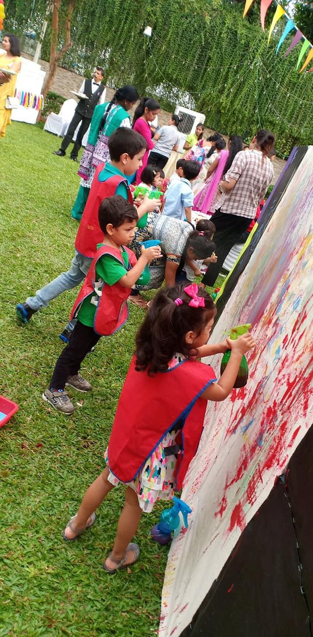 Spray Art Wall
