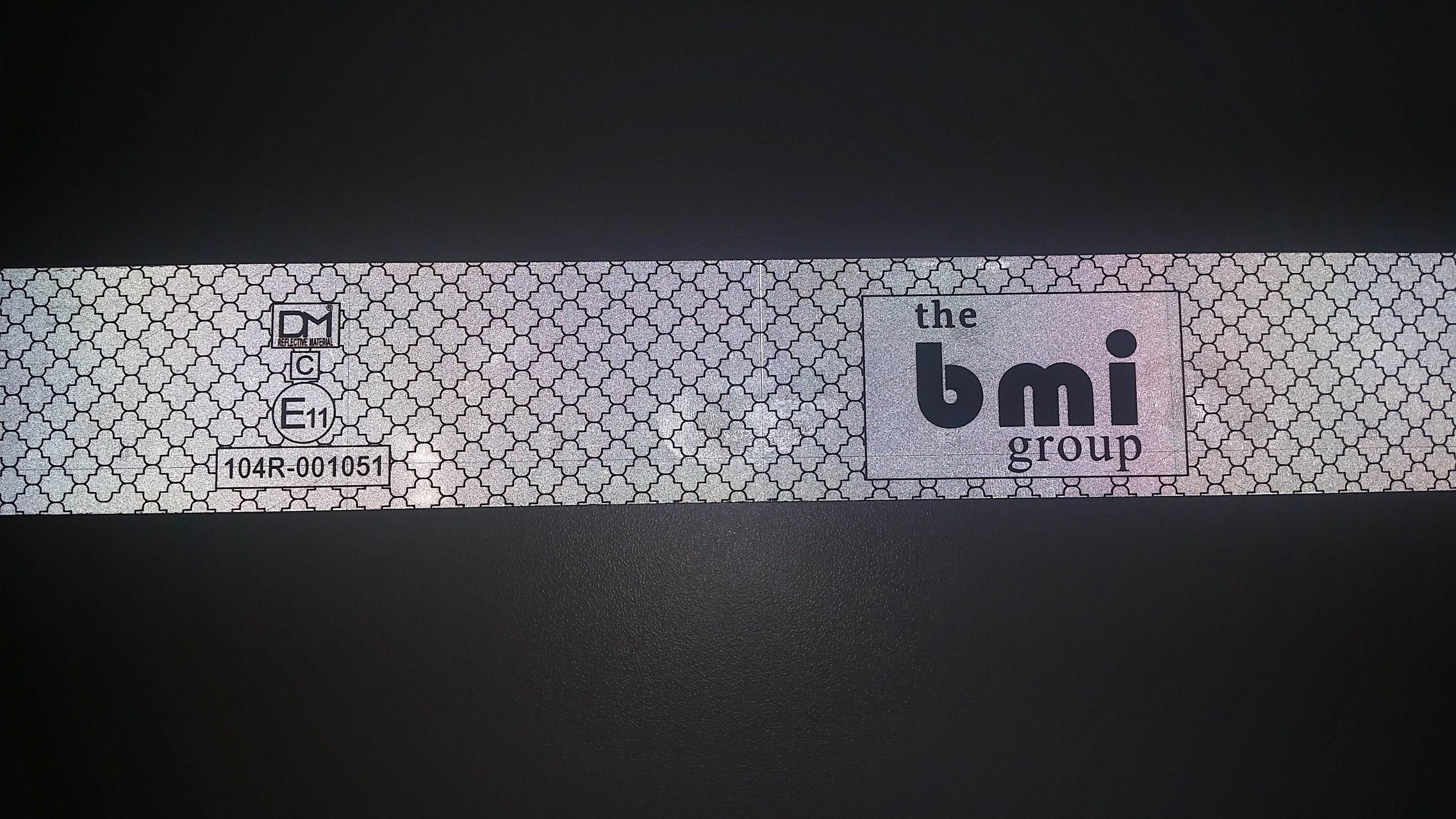 BMI Logo Tape White/Silver Rigid